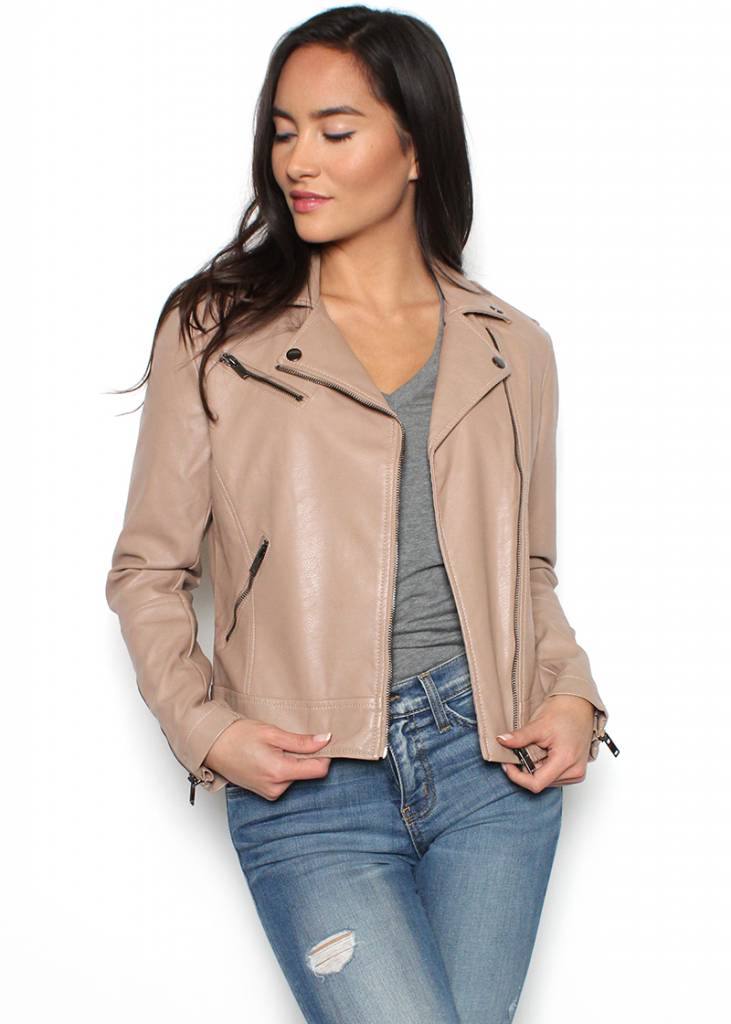ELLE BLUSH LEATHER JACKET