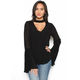 OLIVIA PLEATED SLEEVE TOP