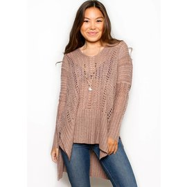 KATE OPEN WEAVE SWEATER