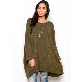 AVA OVERSIZED TUNIC SWEATER