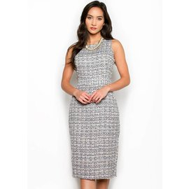 COCO SLEEVELESS TWEED DRESS