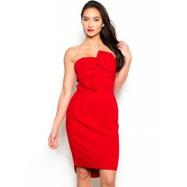 ANSLEY STRAPLESS HOLIDAY DRESS