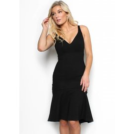 MILA SLEEVELESS TRUMPET DRESS