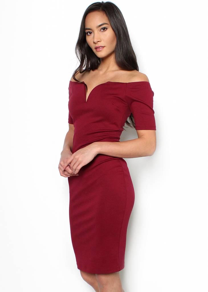 MARIANA OFF THE SHOULDER DRESS
