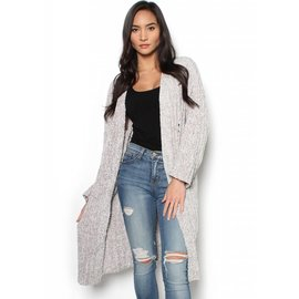 GENEVIVE GRAY CARDIGAN