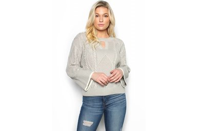 HANNAH CABLE KNIT SWEATER