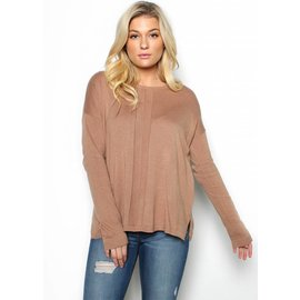 CASSIE CAMEL SWEATER