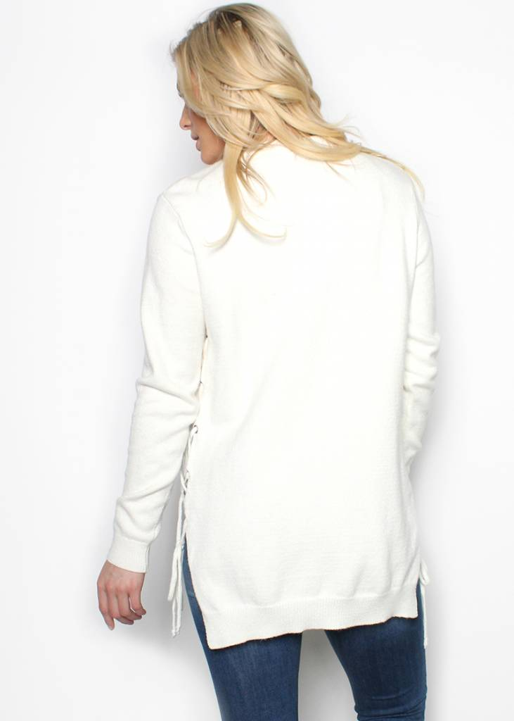 FALEN LACE UP SWEATER