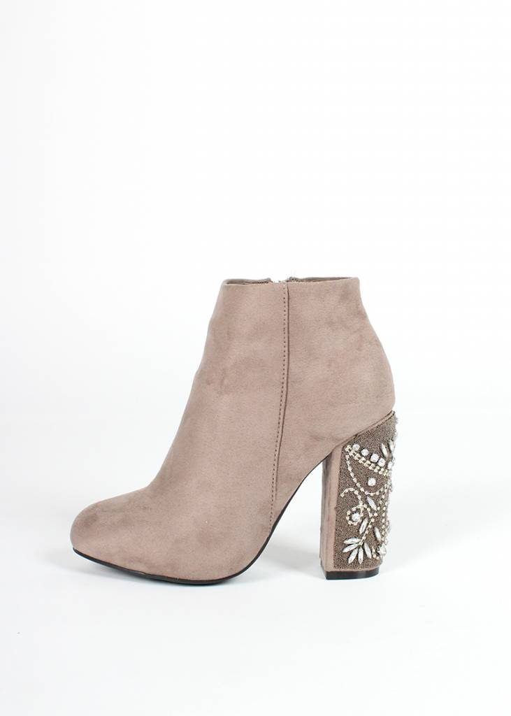 DAUPHINE JEWEL HEELED BOOTIE