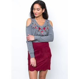PRIMM COLD SHOULDER SWEATER