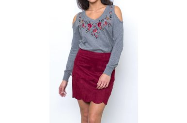 CARSON SCALLOPED MINI SKIRT