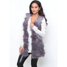 CELESTE PURPLE FUR VEST