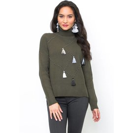 ERIN EMBELLISHED TURTLENECK SWEATER