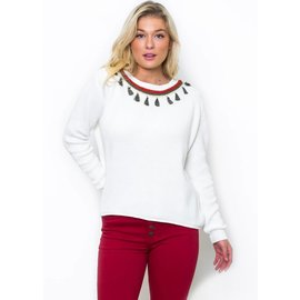 GLORIA EMBELLISHED SWEATER