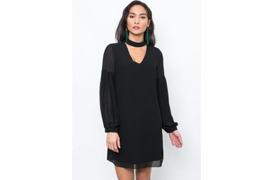 SADIE CHOKER NECK DRESS