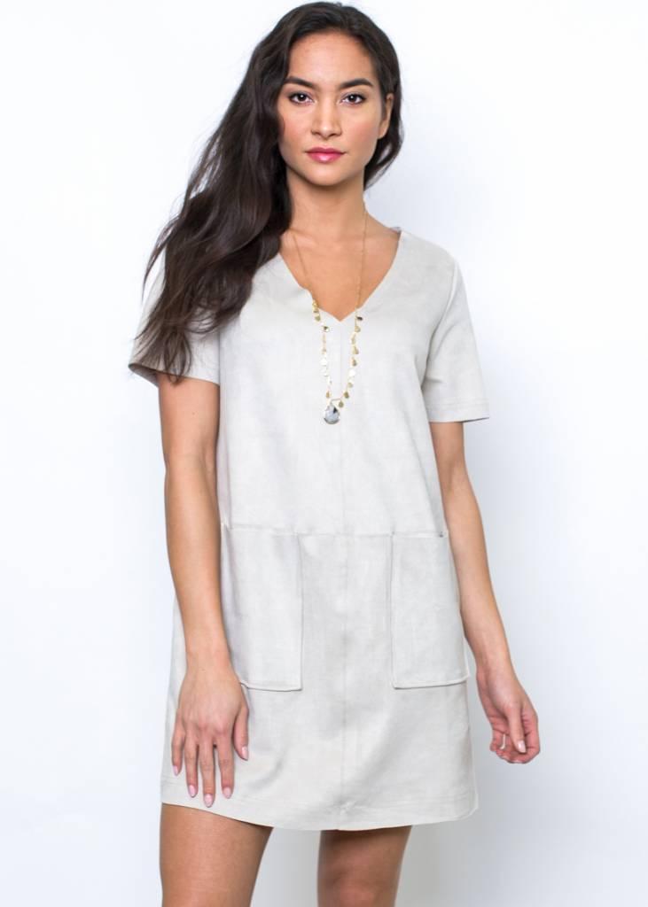 GEORGIA SUEDE SHIFT DRESS