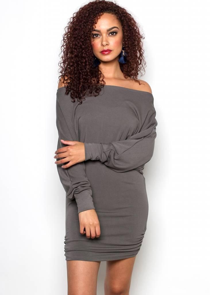 MARIAH RUCHED DRESS