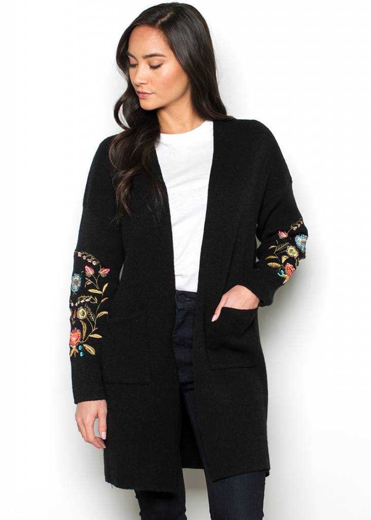 EVE EMBROIDERED CARDIGAN