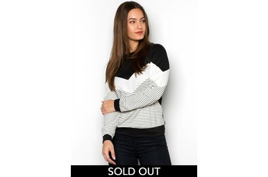 PERRY STRIPED SWEATSHIRT