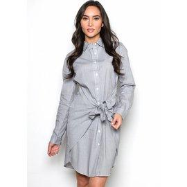POPPY PINSTRIPE SHIRT DRESS