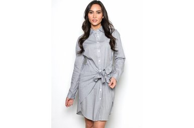 POPPY PINSTRIPE SHIRT DRESS