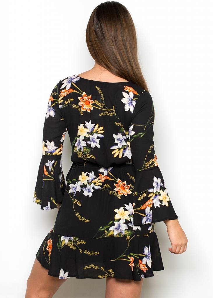 FATIMA FLORAL WRAP DRESS