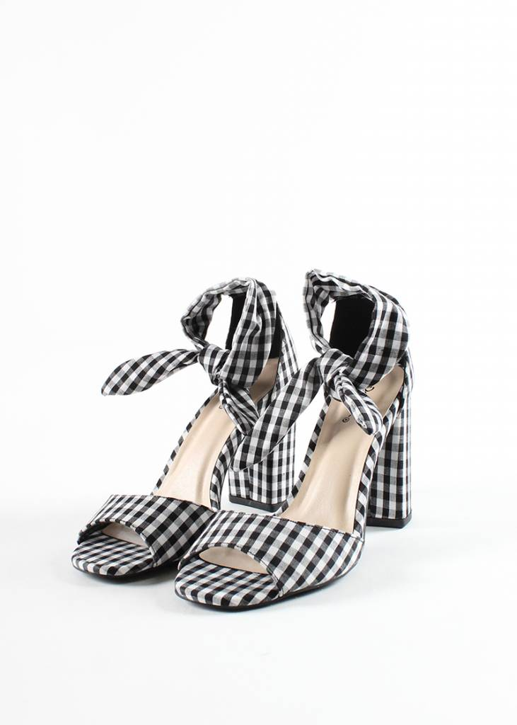 HAMPTONS GINGHAM HEELS