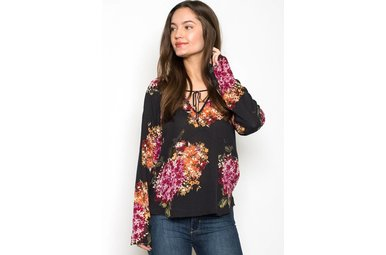 MELLIE FLORAL PEASANT TOP