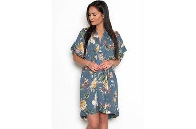 MOANA FLORAL SHIRT DRESS