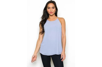 RAVEN SCALLOPED TANK TOP