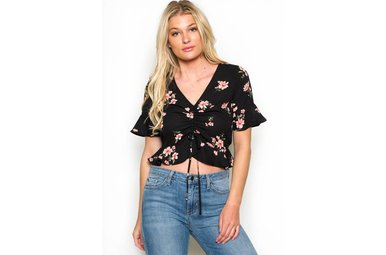 ADELLE FLORAL CROP TOP