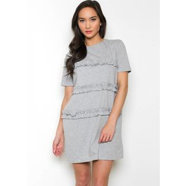 ANDREA RUFFLED T-SHIRT DRESS
