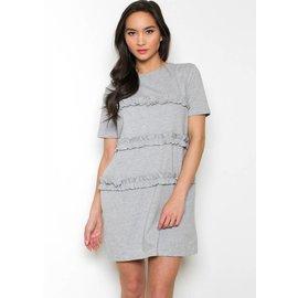 ANDREA RUFFLED T-SHIRT DRESS
