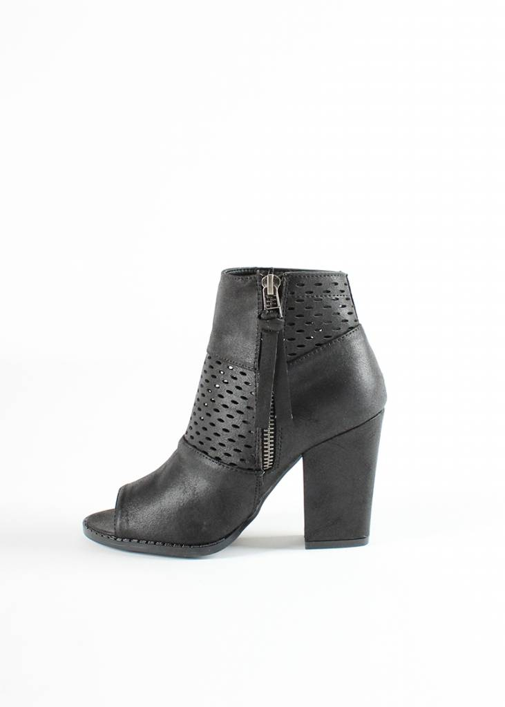 MIA MESH PEEP TOE BOOTIES