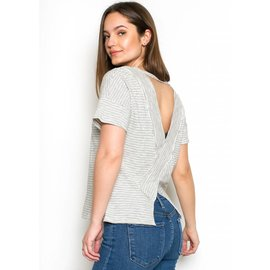 SPENCER STRIPED OPEN BACK TEE