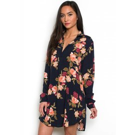 GINNY FLORAL TUNIC DRESS