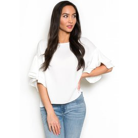 TATIANA TIERED SLEEVE TOP