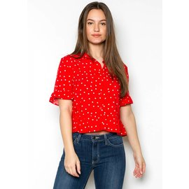 MARY CLAIRE POLKA DOT TOP