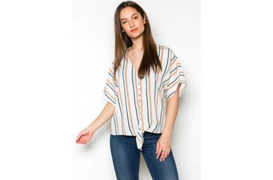 CAMILLE STRIPED TOP