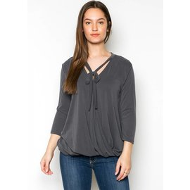 RAINA TIE NECK TOP