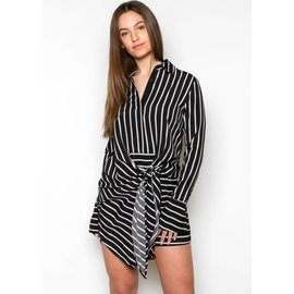 RIO STRIPED SHIRT DRESS