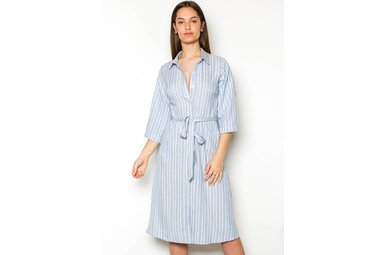 FELICIA STRIPED MIDI DRESS