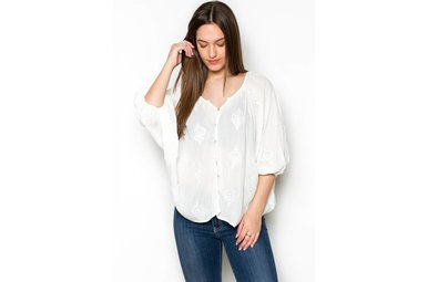 DIXIE DOLMAN PEASANT TOP