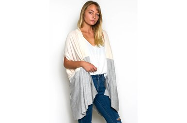 HARTLEY TWO TONED CARDIGAN