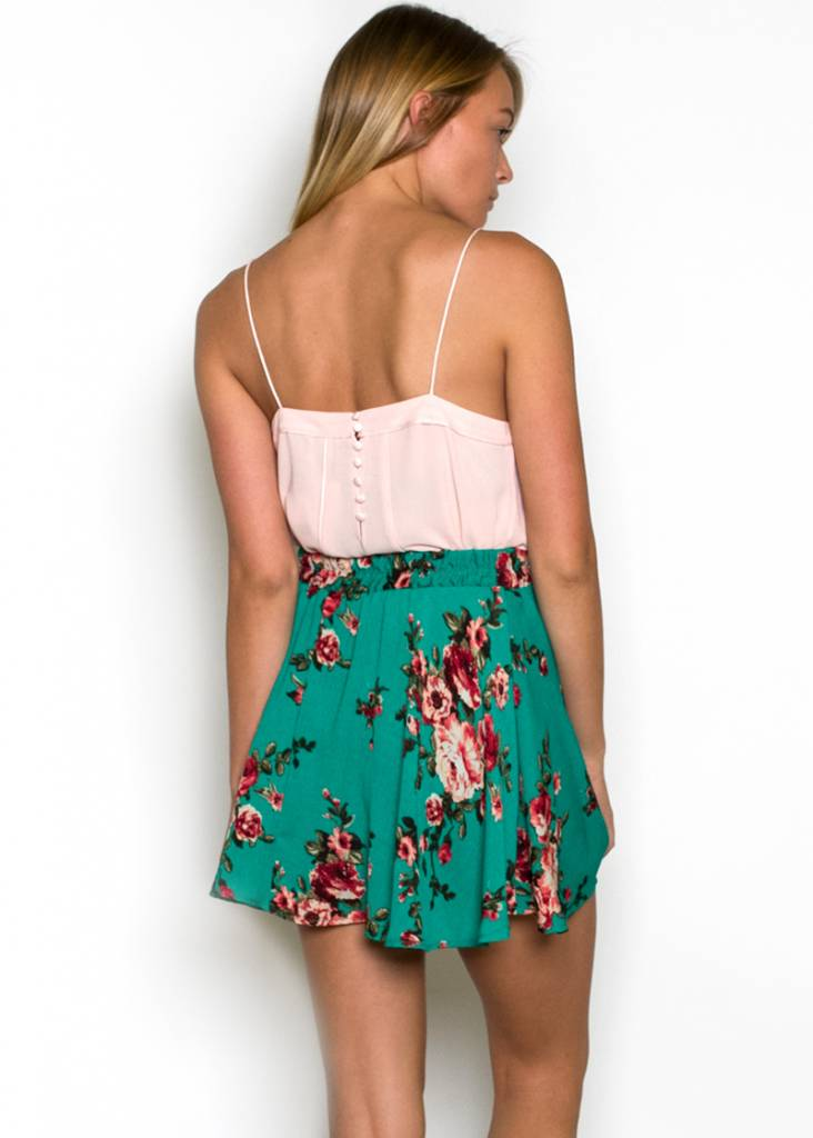 HENRIETTA FLORAL MINI SKIRT