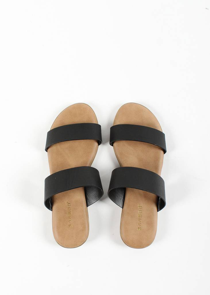 TERRY STRAPPY SLIDES