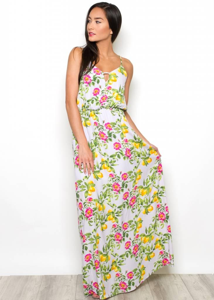 VIOLA FLORAL MAXI DRESS