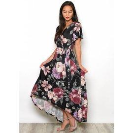 MALAKI FLORAL MAXI DRESS