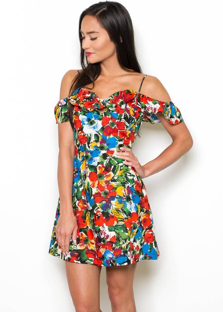 VACAY FLORAL MINI DRESS