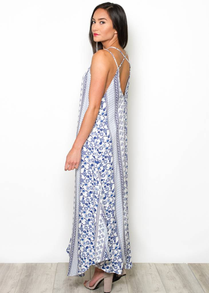ARIA PATTERNED MAXI DRESS